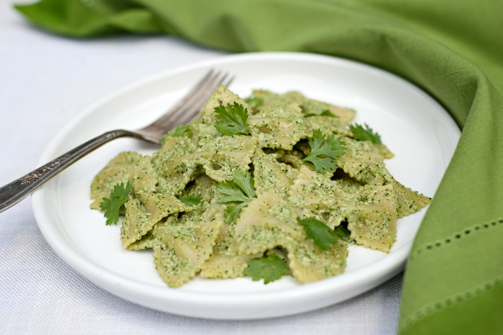 Cilantro Pesto from Leslie Cerier, The Organic Gourmet's cookbook