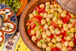 Chick Peas with Tomatoes and Ginger, gluten-free and vegan