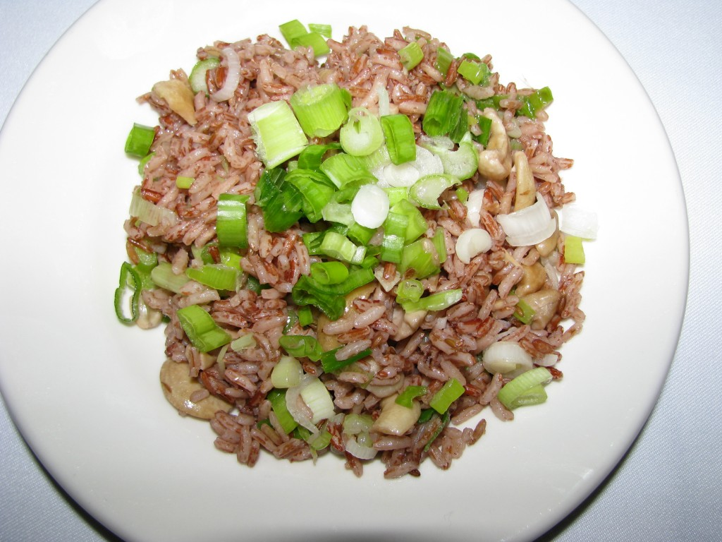 Recipe - Madagascar Pink Rice with Cashews and Scallions