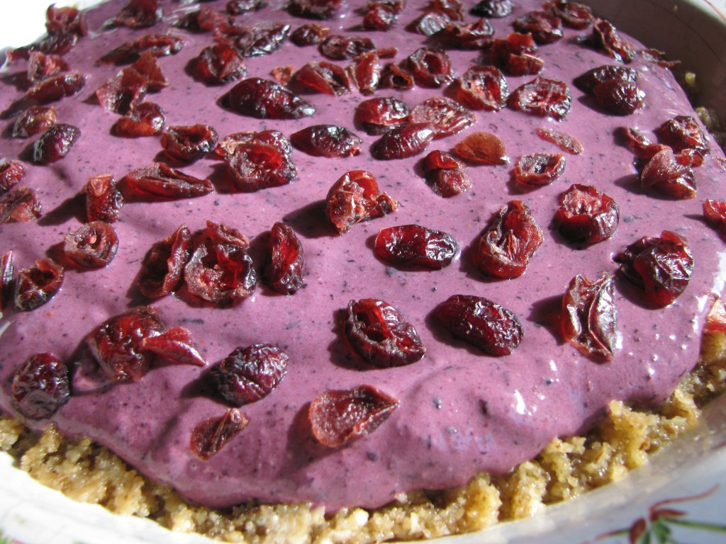 Blueberry Chevre Pie with Acai