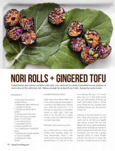 Nori Rolls + Ginger Tofu reprinted from Gluten-Free Recipes for the Conscious Cook