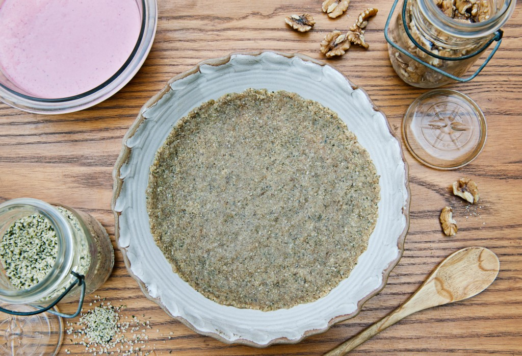 Raw Hemp Walnut Pie Crust