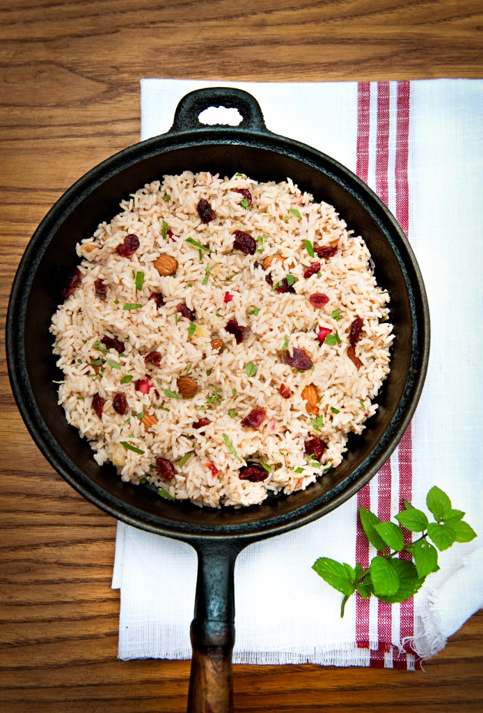 Coconut Rice Pilaf with Cranberries is Vegan and Gluten-Free