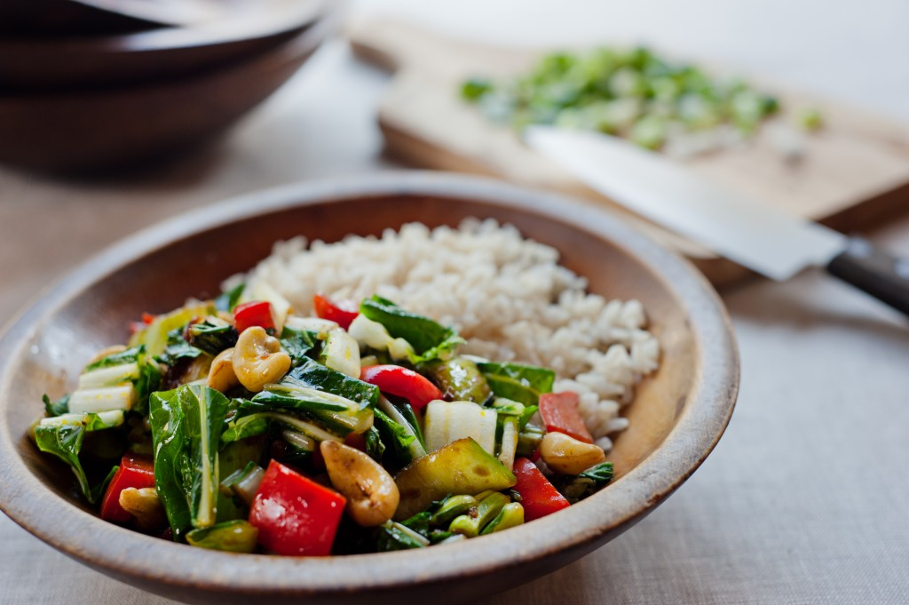 Stir Fry Bok Choy with Cashews