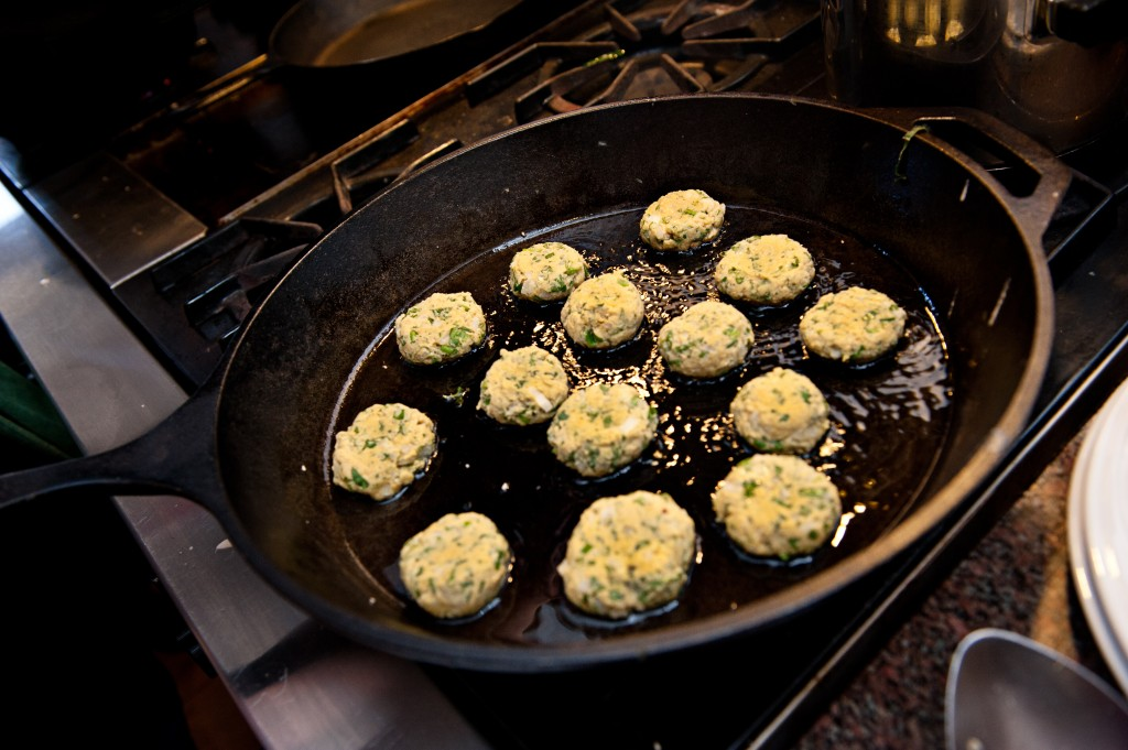 Making gluten-free, vegan and vegetarian Falafel from scratch; pan fried