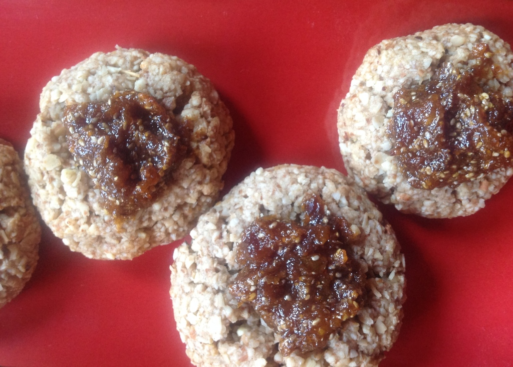 Apricot Almond Thumb Print Cookies