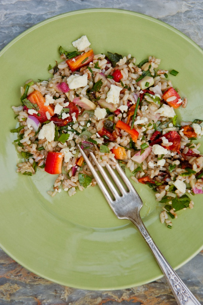 Organic and Gluten-Free Mediterranean Rice Salad