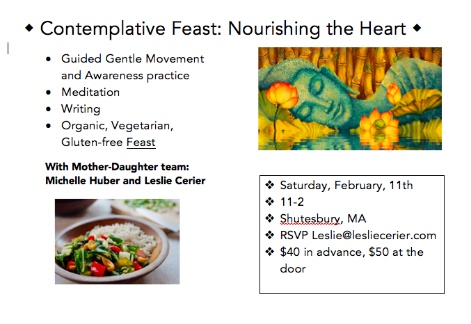 Nourishing the Heart, The Contemplative Feast, Feb 11