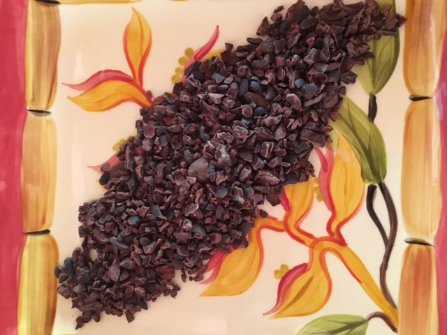Organic Cocoa Nibs, which are chopped up cocoa beans