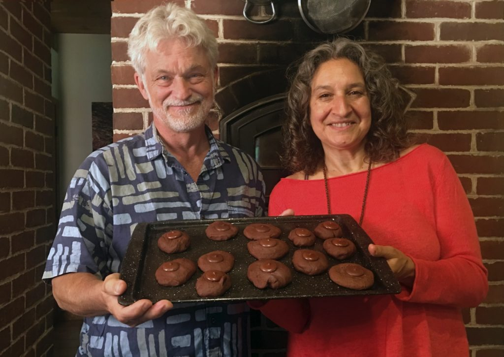 Dean and Leslie with espresso cookies