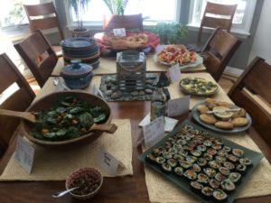 Take a workshop with Leslie Cerier and then cook for your own retreat