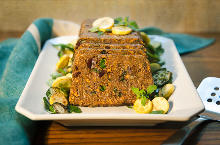 African Spiced Teff and Vegetable Loaf