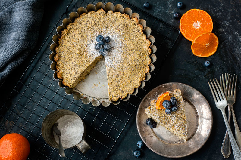 Orange Poppy Seed Cake is easy to make, gluten free, dairy free and vegetarian