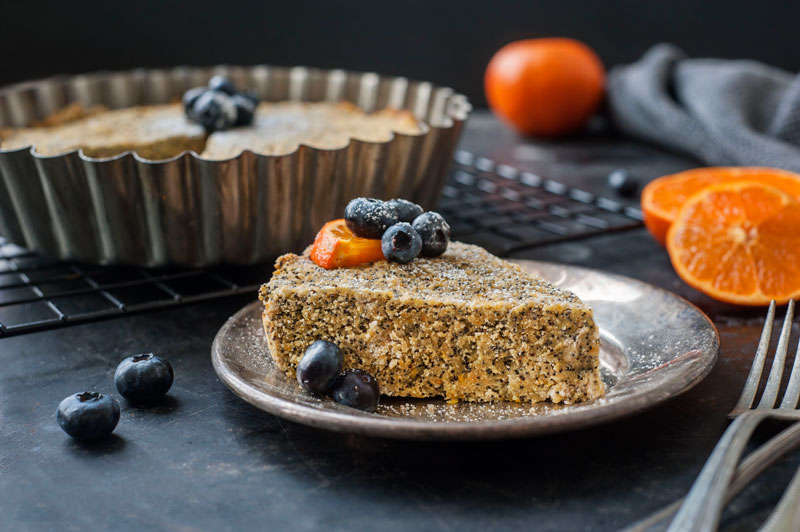 Orange Poppy Seed Cake is Gluten Free and Delicious