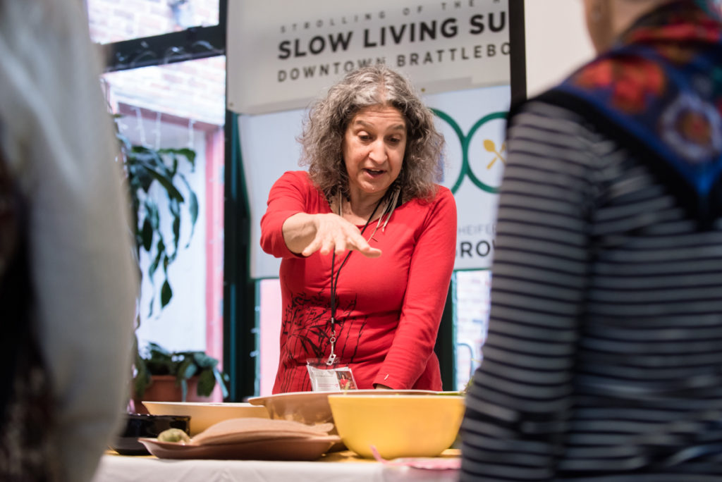 Spring Roll Demo, Leslie Cerier, The Organic Gourmet teaching