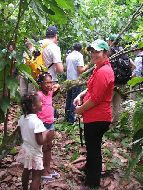 Village kids hiking