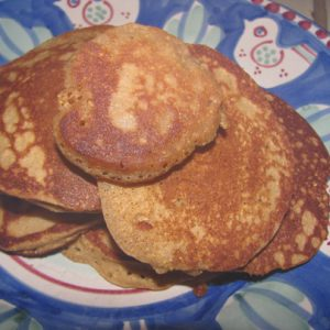 Banana Pancakes with Cinnamon from Gluten-Free Recipes for the Conscious Cook by Leslie Cerier