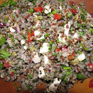 Organic and Gluten-Free Feta Cheese and Quinoa Salad