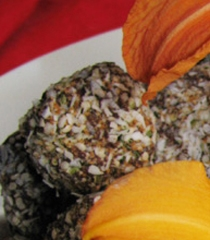 Leslie's cacao vegan truffles with super foods