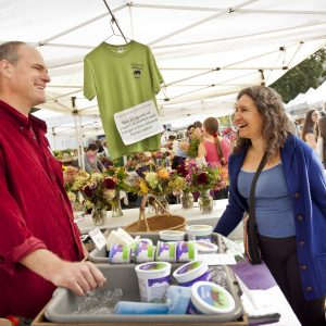 Leslie Cerier at the Amherst Farmers Market