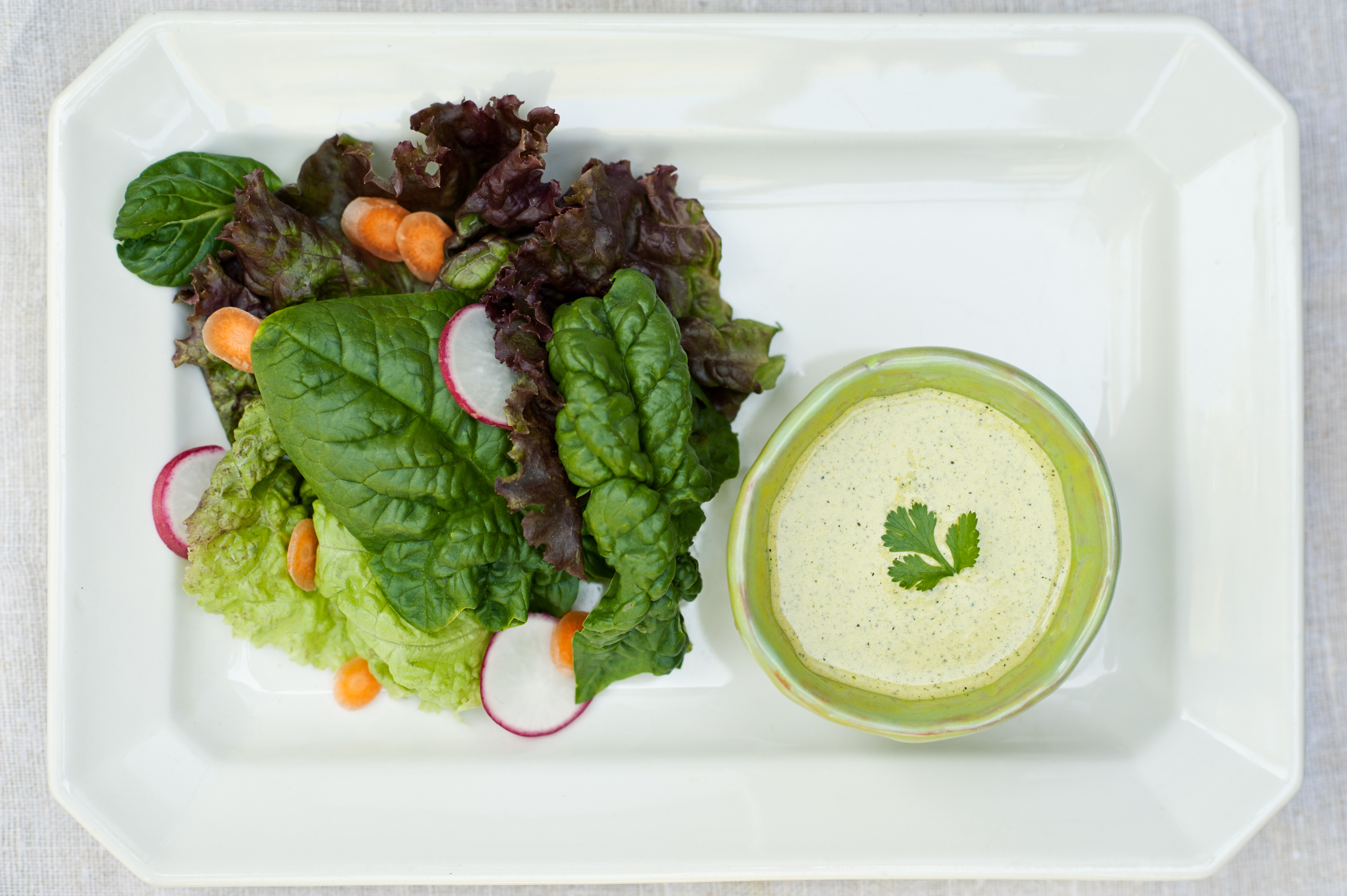Organic, dairy-free Cilantro Mint Dressing