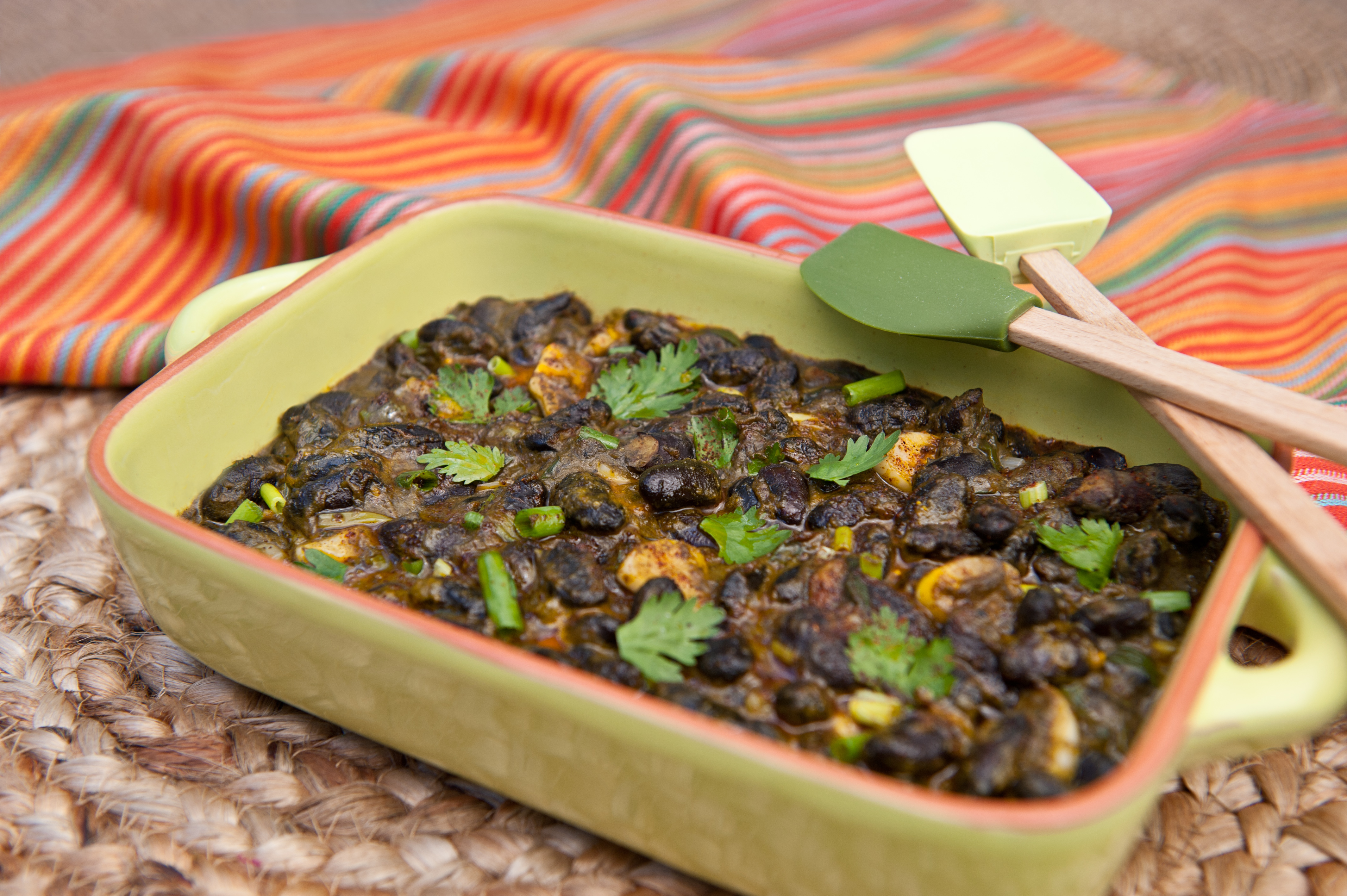 Organic, Vegan, Gluten-free, Jamaican Spicy Beans with a sweet coconut sauce