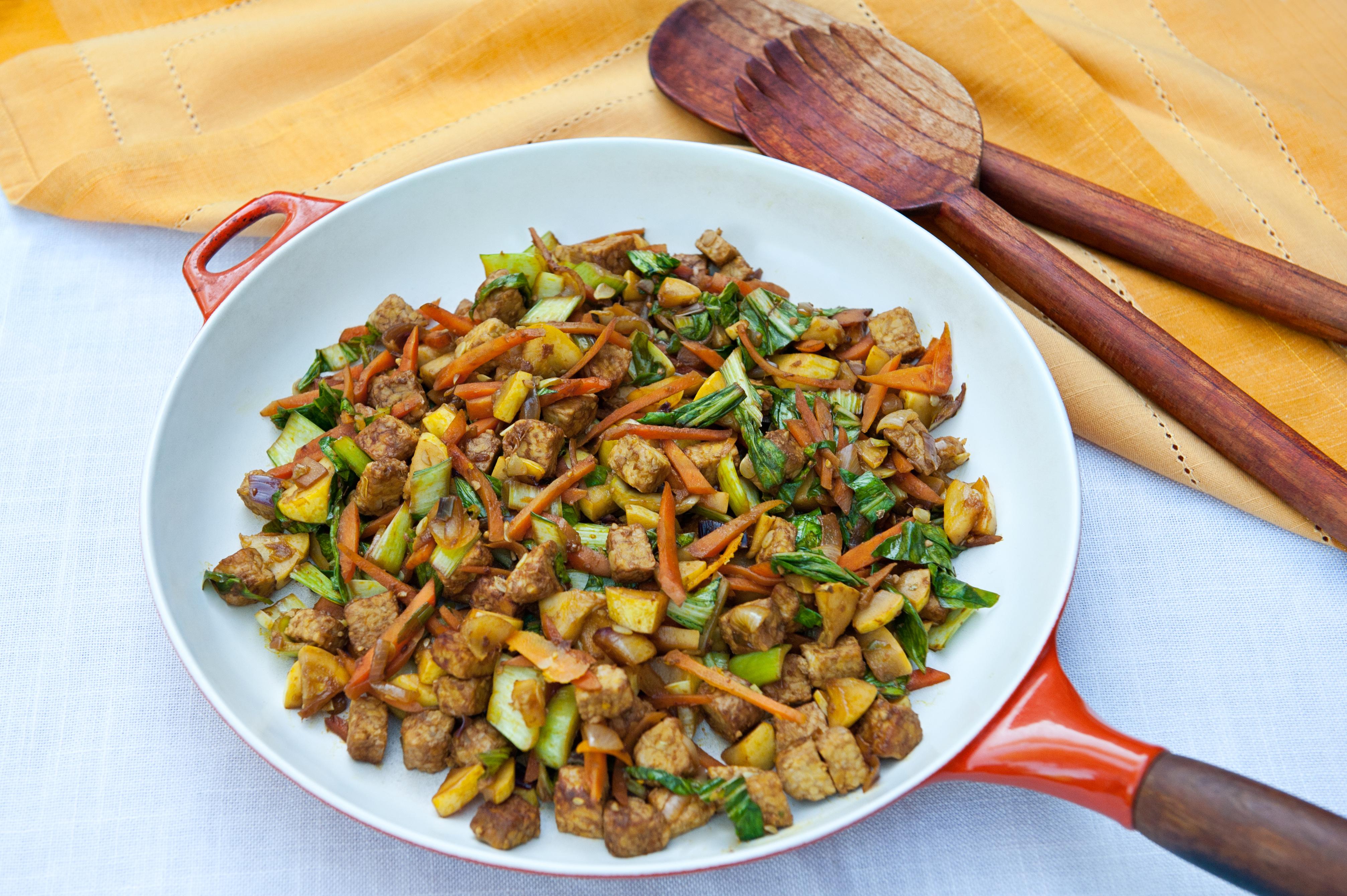 Ginger Vegetable Tempeh Stir Fry