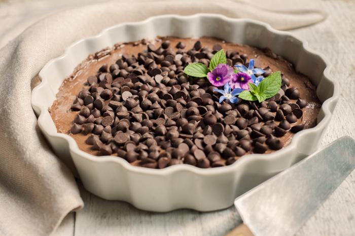 Organic Chocolate Chip Chevre Cheesecake