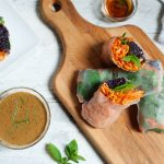 Organic Forbidden Rice spring rolls