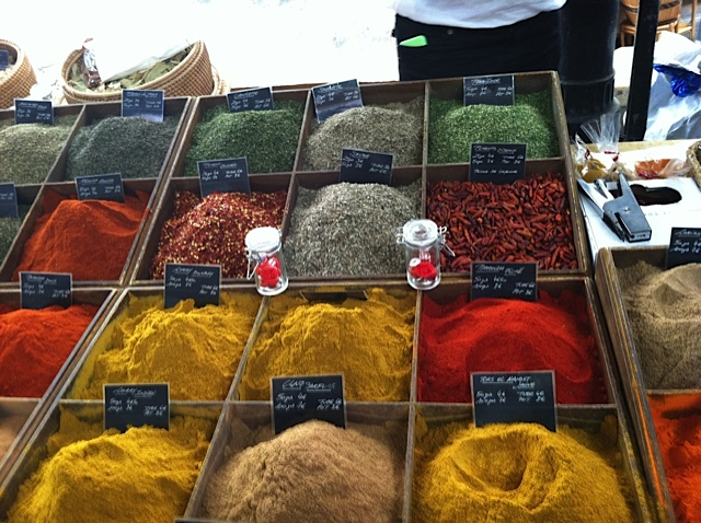 Spices from South of France market
