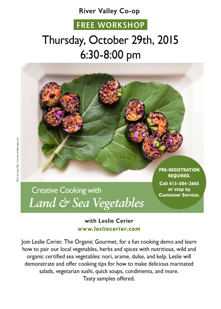 Creative Cooking with Land and Sea Veggies Oct 29, 2015