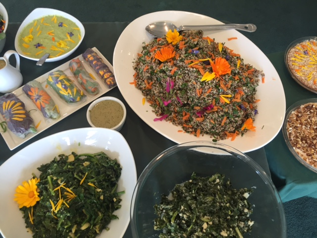 Garden to Table organic Lunch Feast