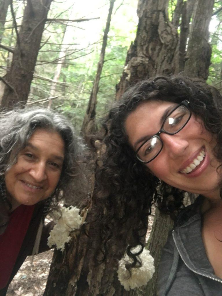 Jade and I finding mystery wild mushroom