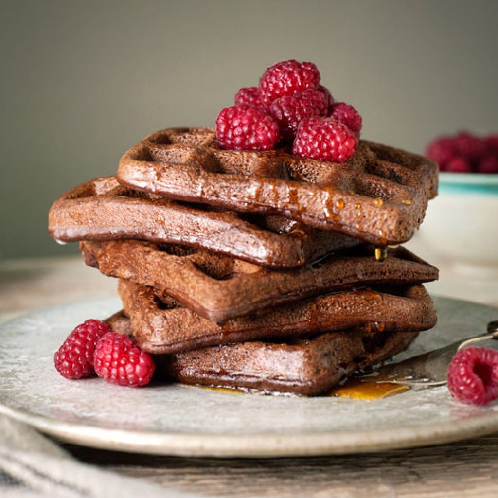 Chocolate Chocolate Chip Teff Gluten Free Delicious Waffles