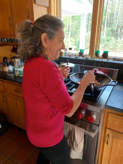Enjoying teaching vegan and vegetarian hands on cooking
