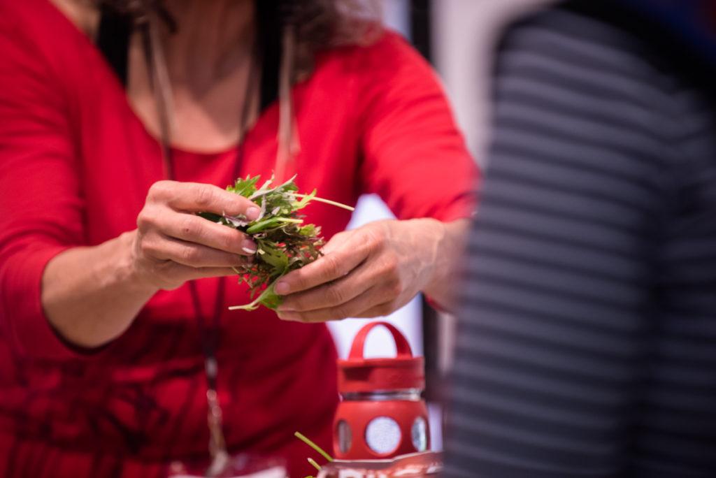 The Organic Gourmet Leslie Cerier's hands