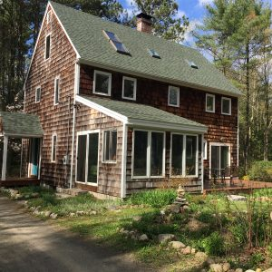 West side of Leslie's passive solar natural home