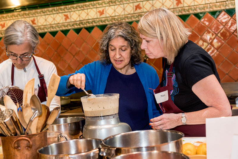 Teaching hands on cooking classes