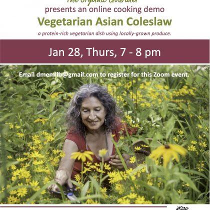 Online Cooking Demo: Vegetarian Asian Cole Slaw